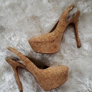 Sam Edelman Shoes - Sam Edelman Novato Cork Platform Sling Back Sz.6US